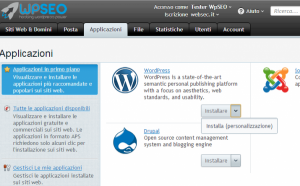 Installare WordPress da Plesk Panel WpSEO