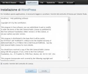 Accettare la Licenza di Installazione WordPress WpSEO