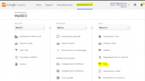 Eliminare Spam Referrals da Analytics