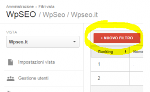 Eliminare Spam Referral da Analytics - STEP 2