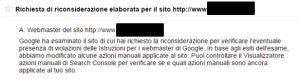 richiesta riconsiderazione elaborata sito 300x79 Blackhat SEO: Uscire dalla Penalizzazione Google in 5 giorni! [CASE STUDY]