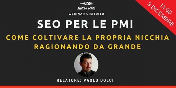 Webinar SEO Paolo Dolci