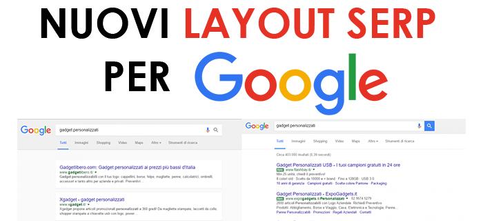 Nuovi Layout SERP per Google
