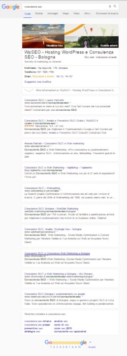 google serp consulenza seo boxed 258x720 Nuovi Layout per le SERP di Google!