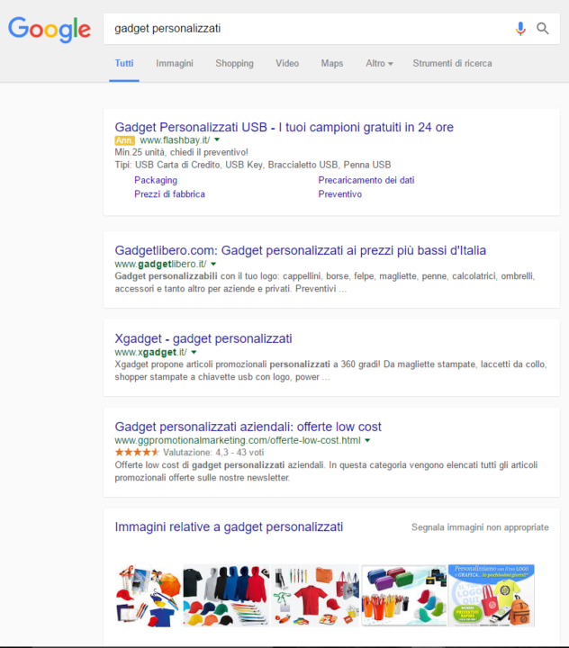 Layout Google SERP Boxed