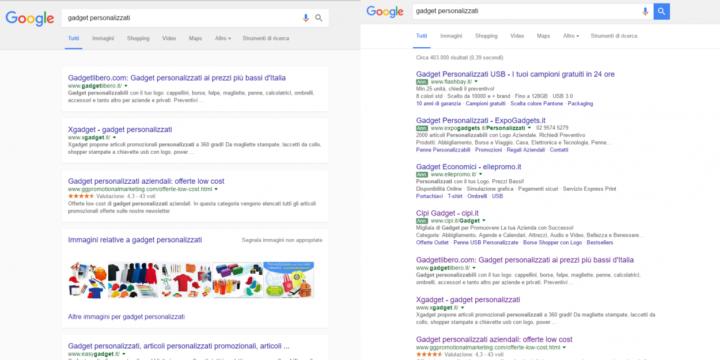 new google serp layout noads 720x360 Nuovi Layout per le SERP di Google!
