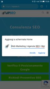 Progressive Web App WpSEO Step 2